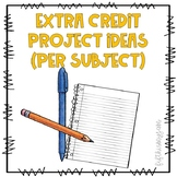 Full Extra Credit Packet - 4 Subjects Included!!