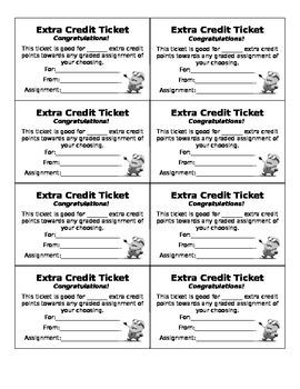 Extra Credit Pass
