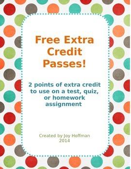 Extra Credit Point Reward