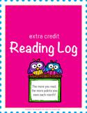 Extra Credit Reading Log