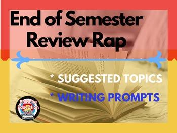 Semester Review Activity: Poem Rap