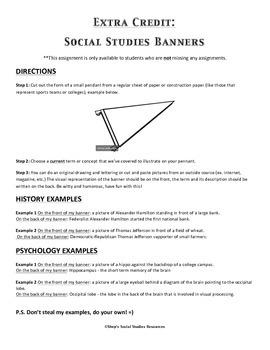 Extra Credit - Social Studies Banner