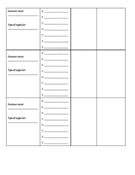 Extra Credit Taxonomy Assignment
