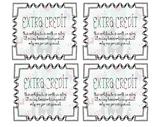 Extra Credit Version 2 // Extra Credit Coupons // Llama Cards