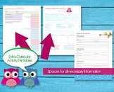 Extra-Curricular Activities Printable for Kids and Childre