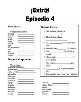 Extra! Extr@! episodio 1-13 Worksheet Spanish Bundle