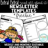 Extra Extra! {*Editable* Newsletter Template FREEBIE!}