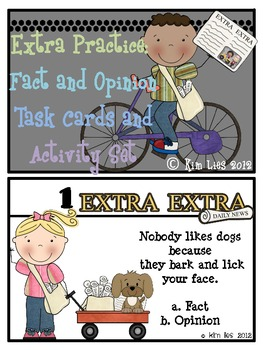 Extra!  Extra!  Fact and Opinion Task Card Activity Set