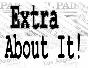 Extra, Extra - Newspaper Bulletin Board Title