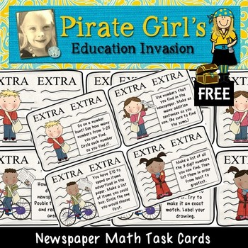 Extra! Extra! Newspaper Math Task Cards