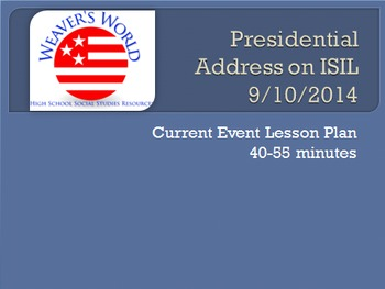 ISIS Mini-lesson from Obama's Address on ISIL or Daesh - CCS aligned