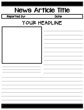 Extra, Extra! Read All About It! {News Report Templates}