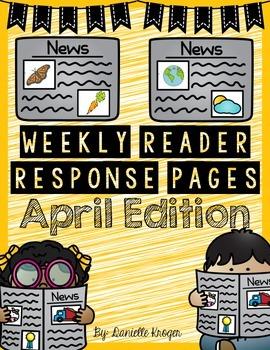 Extra! Extra!  Scholastic News Reading Response: April 2015 (1st Grade)