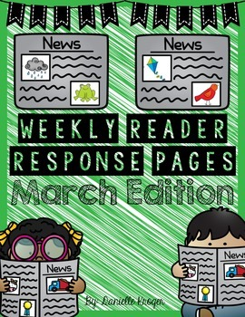 Extra! Extra!  Scholastic News Reading Response: March 2015 (1st Grade)