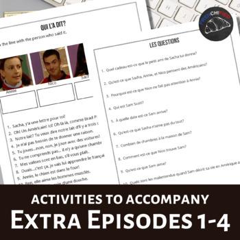 Extra! French Bundle - worksheets to accompany episodes 1-4