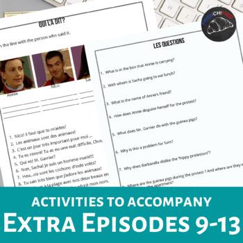 Extra! French Bundle - worksheets to accompany episodes 9-13