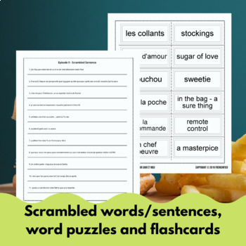 Extra! French - worksheets to accompany episode 9 - Un boulot pour Sam et Nico