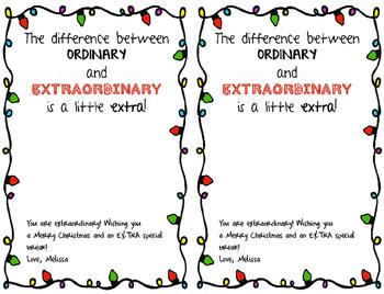 Extra Gum Teacher or ANYONE Giftag for the Holidays Freebie