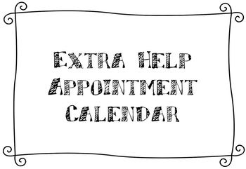 Extra Help Appointment Calendar