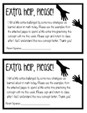 Extra Help Cards - Freebie