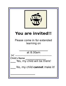 Extra Help Invite