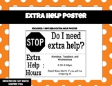 Extra Help Poster