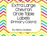 Extra Large Chevron Circle Table Numbers {Primary Colors}