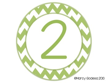 Extra Large Chevron Circle Table Numbers (matching number color)