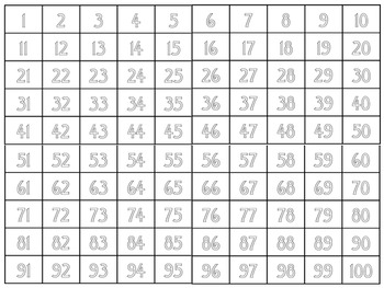 Extra Large Hundreds Chart