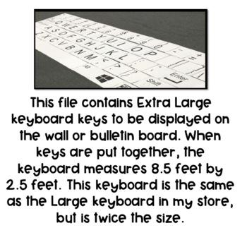 Extra Large Keyboard Keys- PC