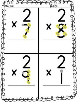 Multiplication: Single Digit-Skip Counting Point and Press Extra Large for Touch