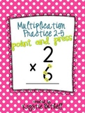 Multiplication: Single Digit-Skip Counting Point and Press