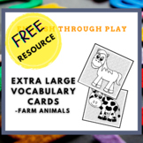 Extra Large Vocabulary Cards -Farm Animals - great for pre