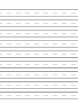 Extra Large rule Lined Paper for Writing with gutter and dashed centerline