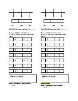Extra Modified factors and multiples, accommodates McGraw-Hill, ch.3 lesson 7