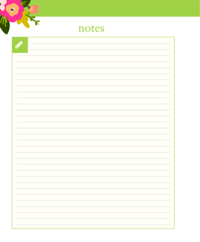 Extra Notes Pages for 2016 Made For Each Other Agenda