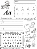 Extra Practice ABC Activity Sheets