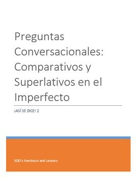 Extra Practice:  Conversation Questions Imperfect Tense #1