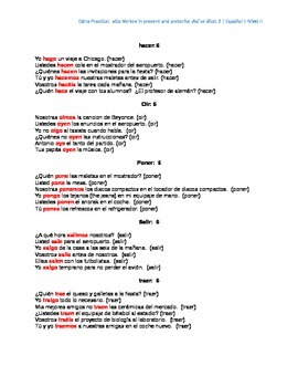 Extra Practice:  Go Verbs in Present and Preterite (Basic)