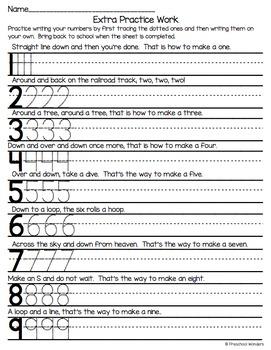 Homework For Pre K