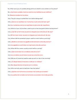Extra Practice:  Imperfect Tense #7 Reflexive Verbs (Intermediate)