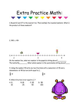 Extra Practice Math #1 5th Grade Math
