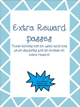 Extra Reward Passes FREEBIE!