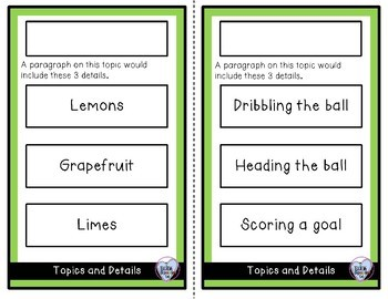 Extra Set #1 Topic and Detail Cards