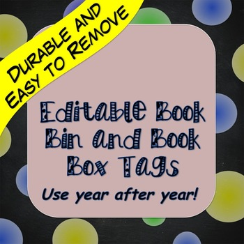 Extra Sturdy Editable Classroom Library and Book Box Labels-Primary Colors