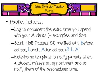 Extra Time with Teacher Bundle