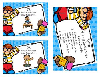 Extra Writing Sentences Task Cards