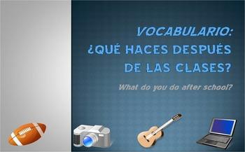 Extracurricular Activities Vocab Presentation (Realidades 2 Ch. 1B)