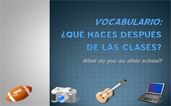 Extracurricular Activities Vocab Presentation (Realidades 2 Ch. 1B)