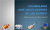 Extracurricular Activities Vocab Presentation (Realidades